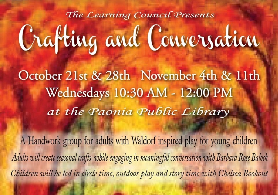 2015 Crafting and Conversation