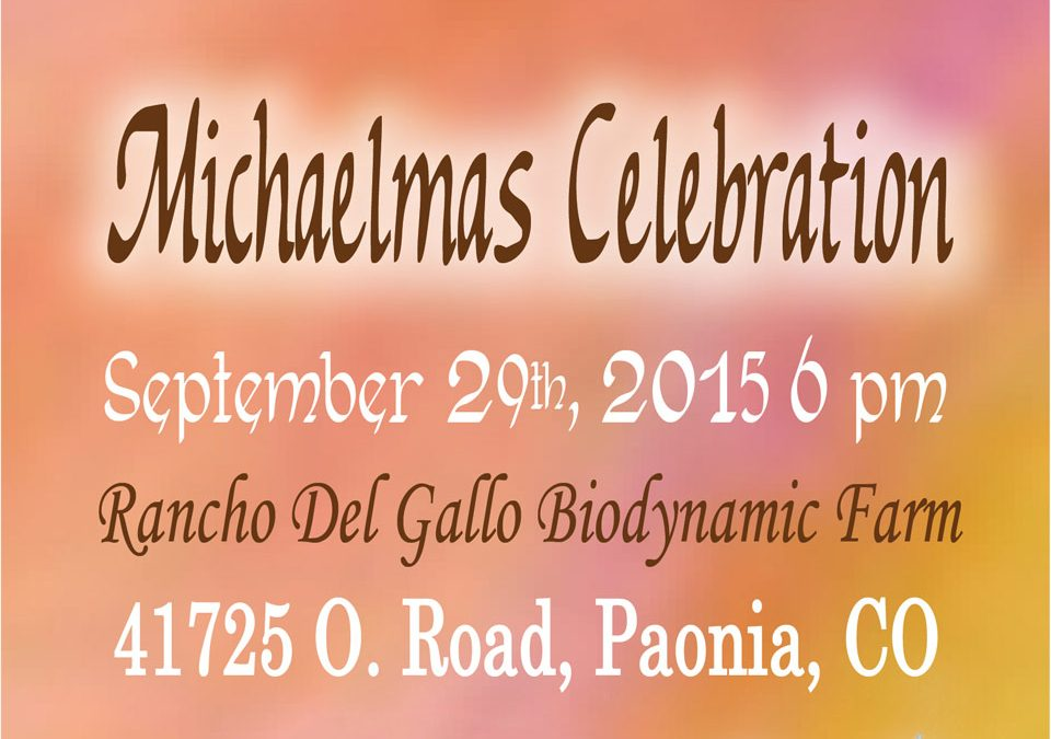 2015 Michaelmas Celebration