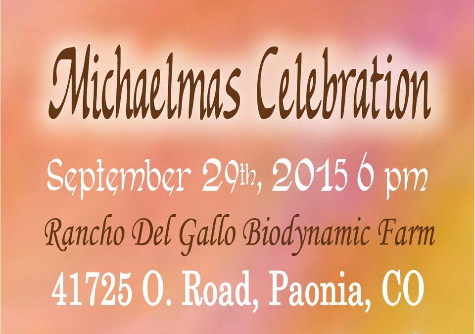 2015 Michaelmas Celebration