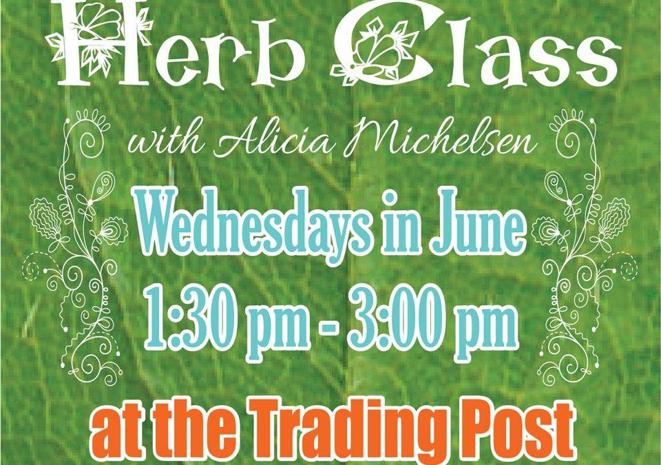 2016 Summer Herb Class