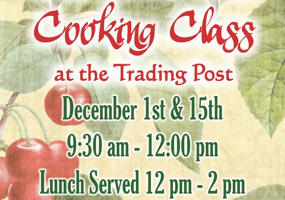 December Cooking Classes