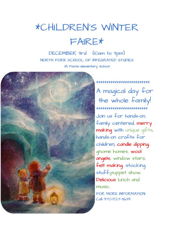 2016 Winter Faire Poster