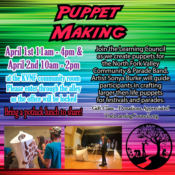 2017 April Puppet Making poster