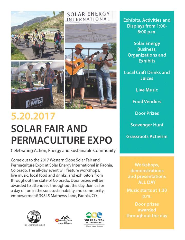 Solar Fair 2017 poster