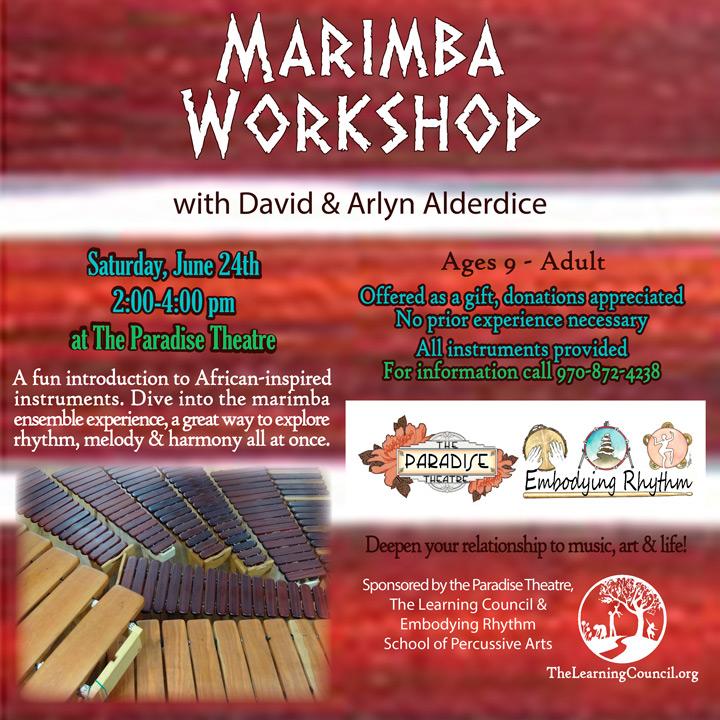 Marimba Workshop poster