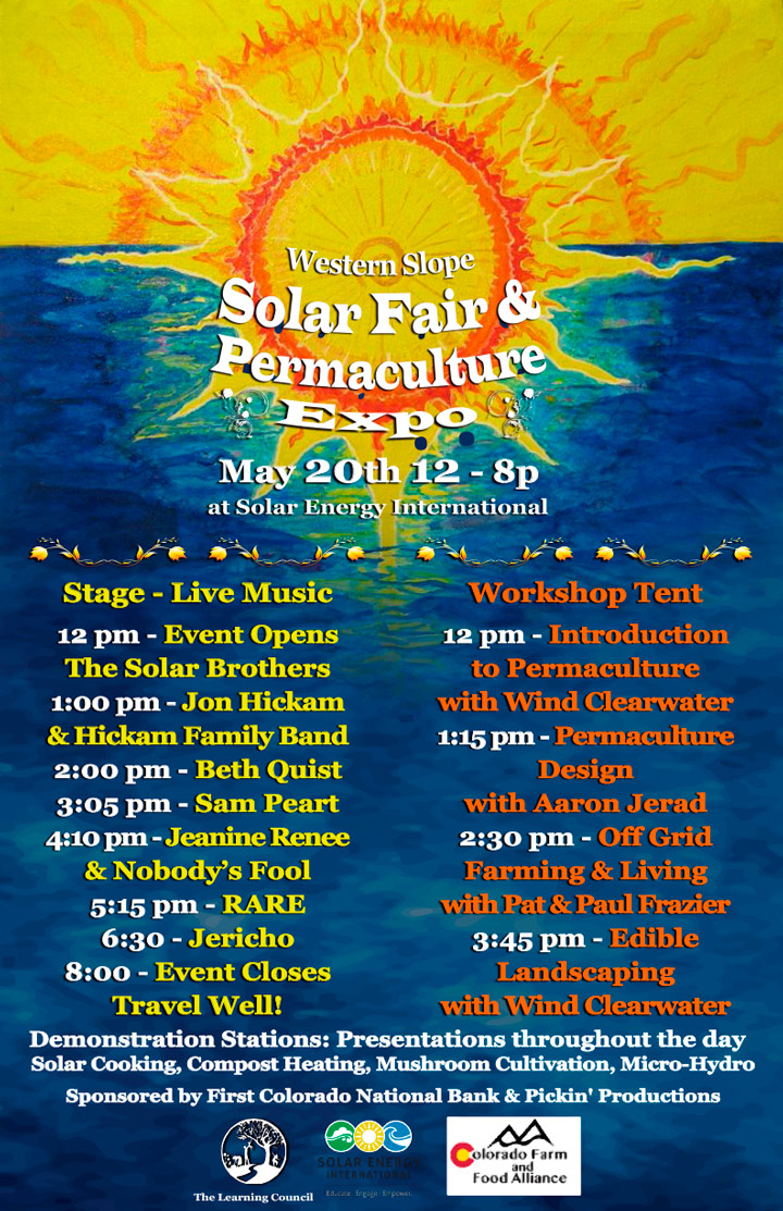 Solar Fair schedule image