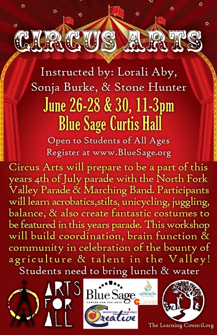 Summer Circus Arts poster