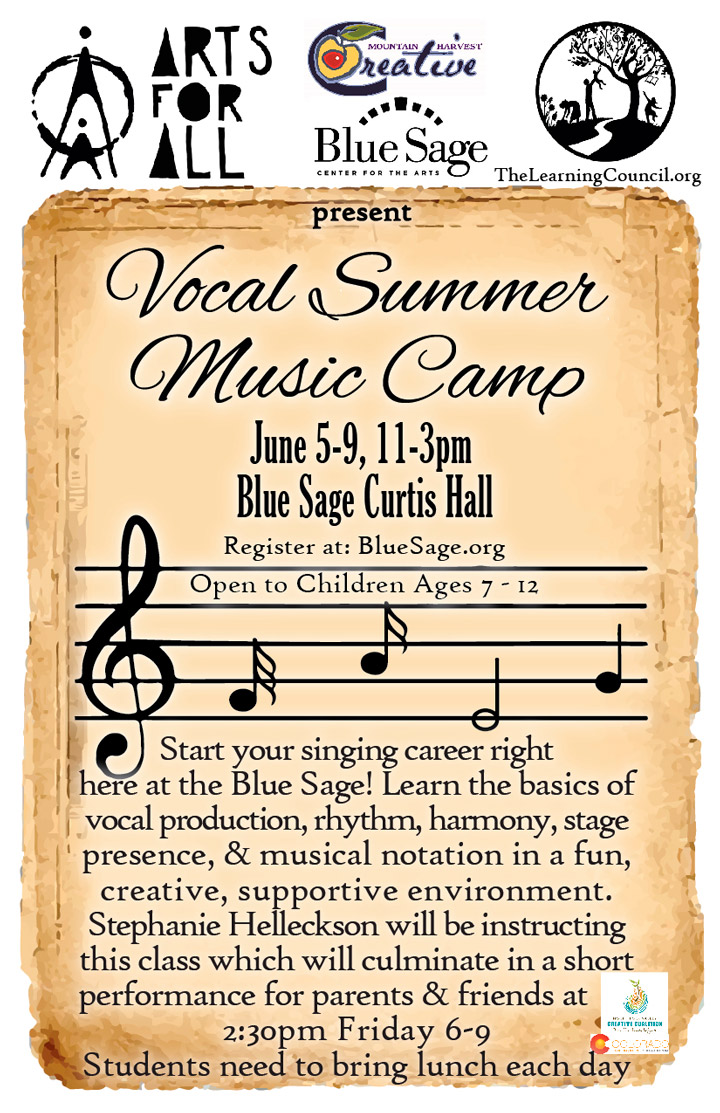 Vocal Summer Music Camp poster