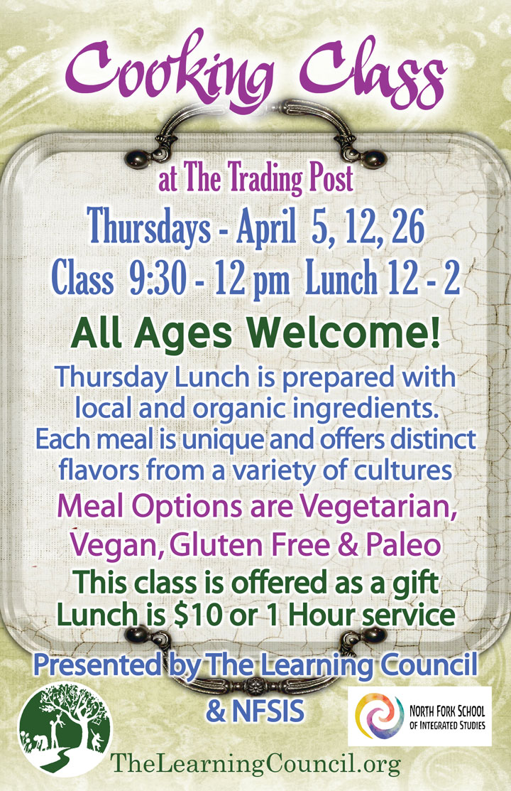 April Cooking Class poster