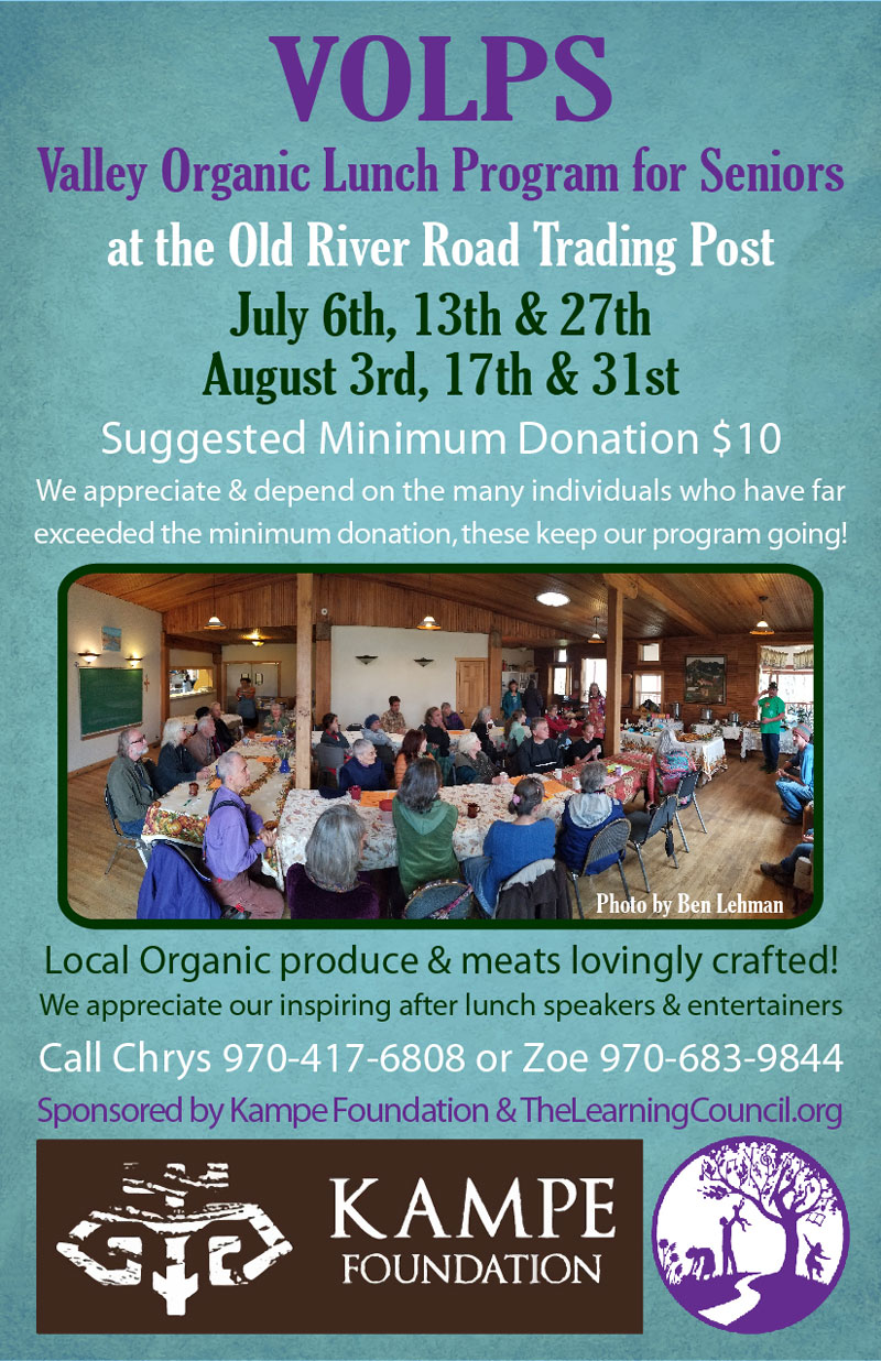 Valley Organic Lunch Program for Seniors poster