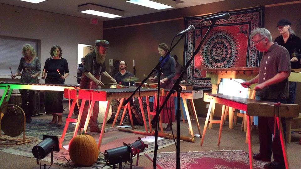 Marimba Ensemble Playing at Mountain Harvest Festival