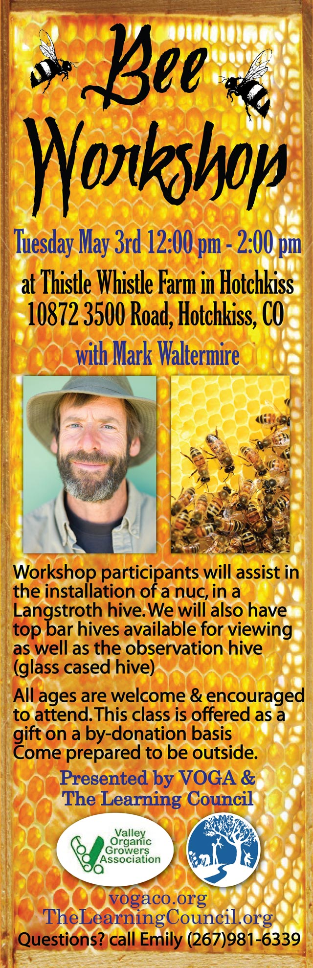 Bee Workshop poster
