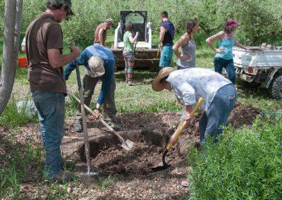 Image of Biodynamic Composting Workshop building a pit