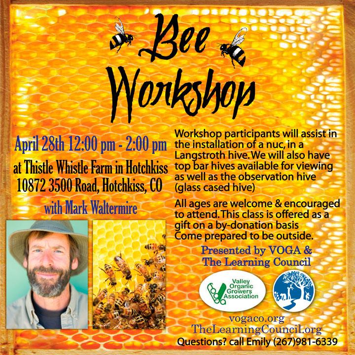 Bee Workshop poster image