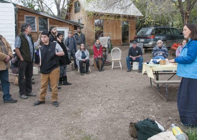 Image of Regenerative Agriculture class with Alicia
