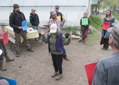 Image of Regenerative Agriculture class - farming with the moon demo