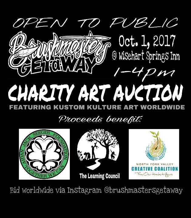 Artist Retreat Charity Auction poster