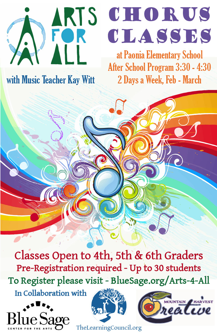 Arts For All - Chorus Classes poster