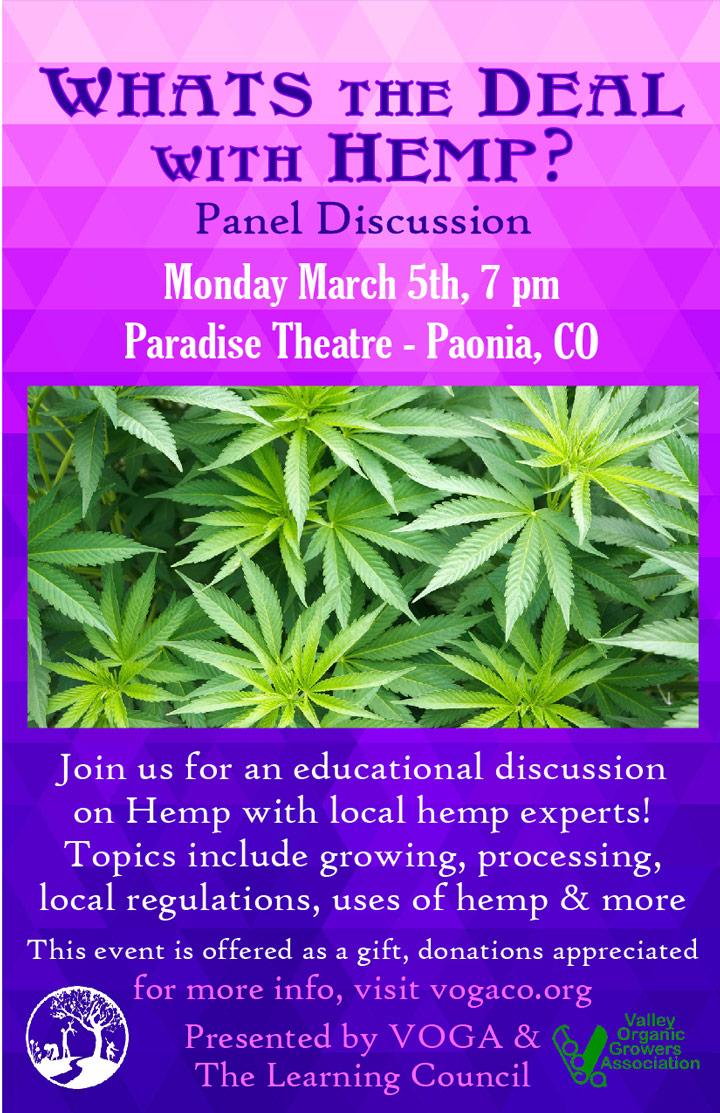Hemp Panel Discussion poster