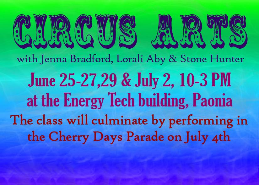 Circus Arts – Summer 2018