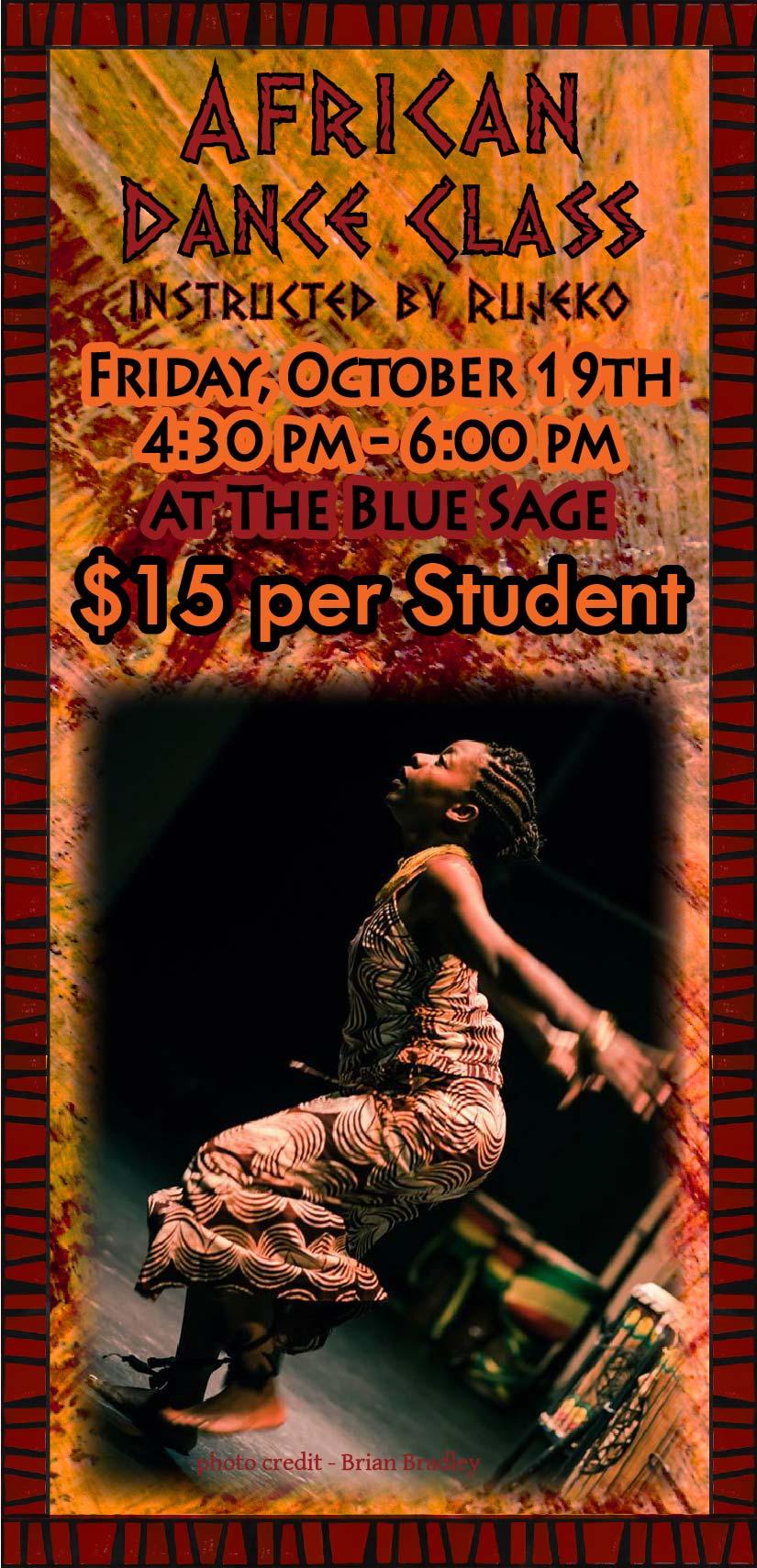 African Dance Class poster