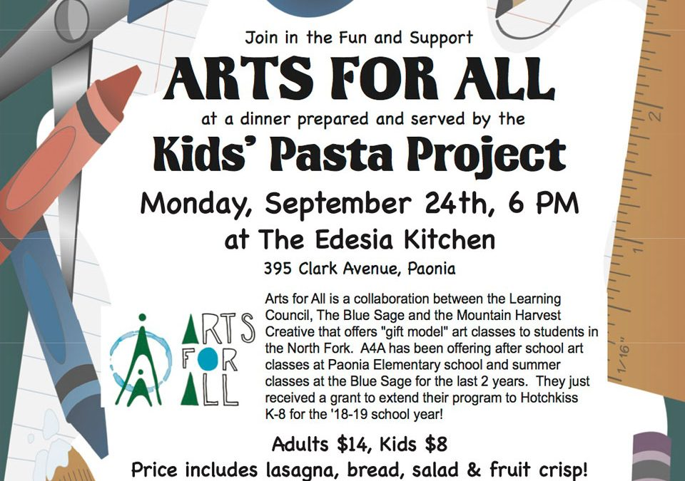 Arts for All Kids Pasta Project