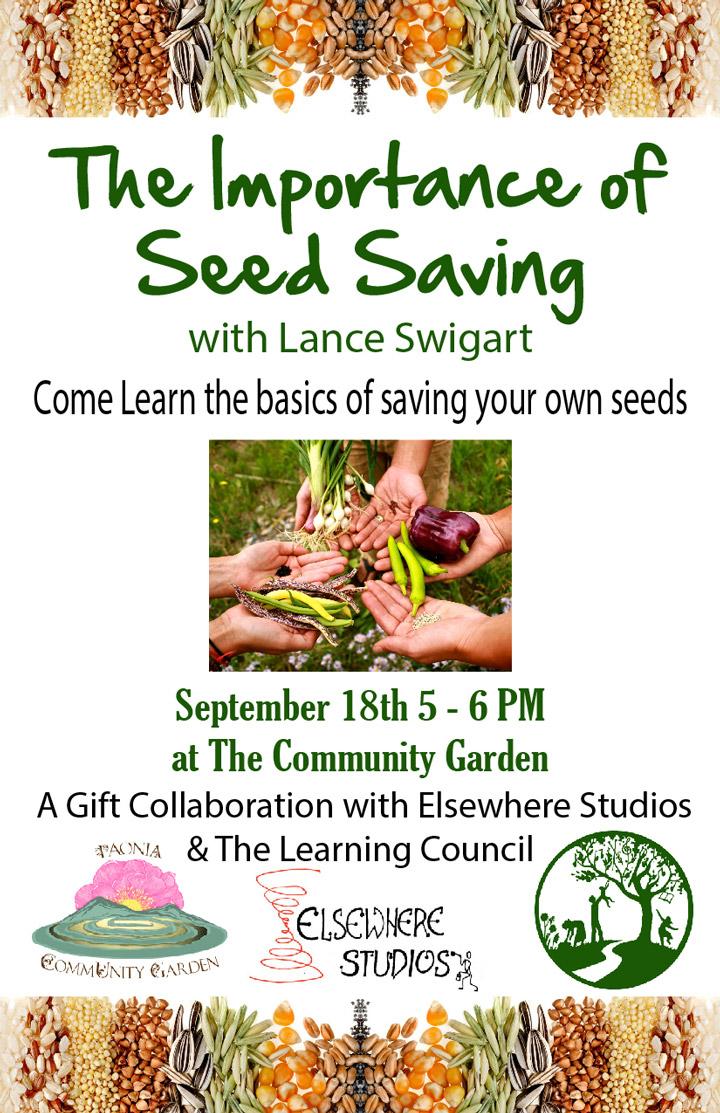 Seed Saving poster