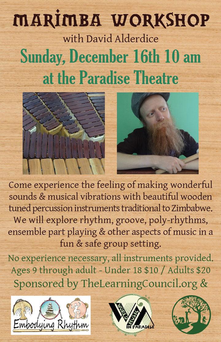 Marimba Workshop poster