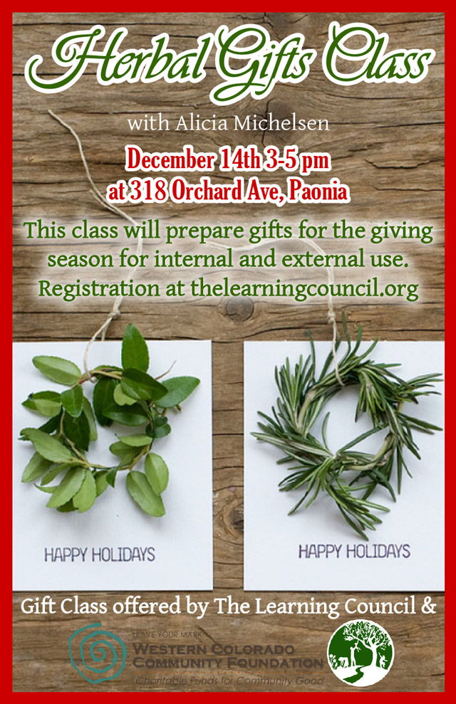 Herbal Gifts Class poster