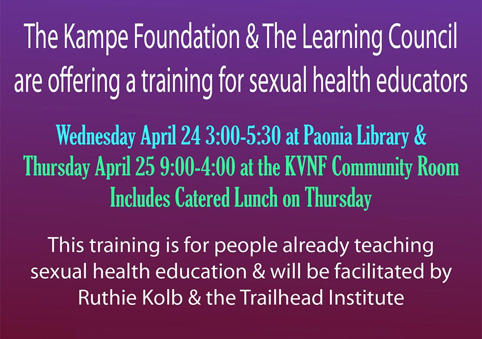 Sexual Health Educator Training