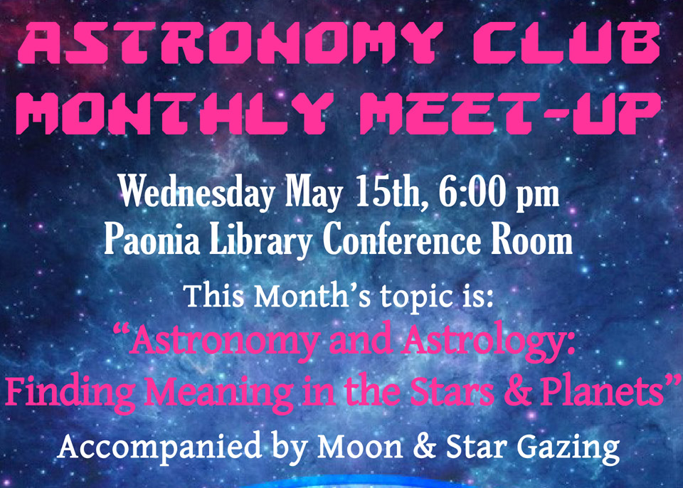 Astronomy Club Monthly Meet-Up