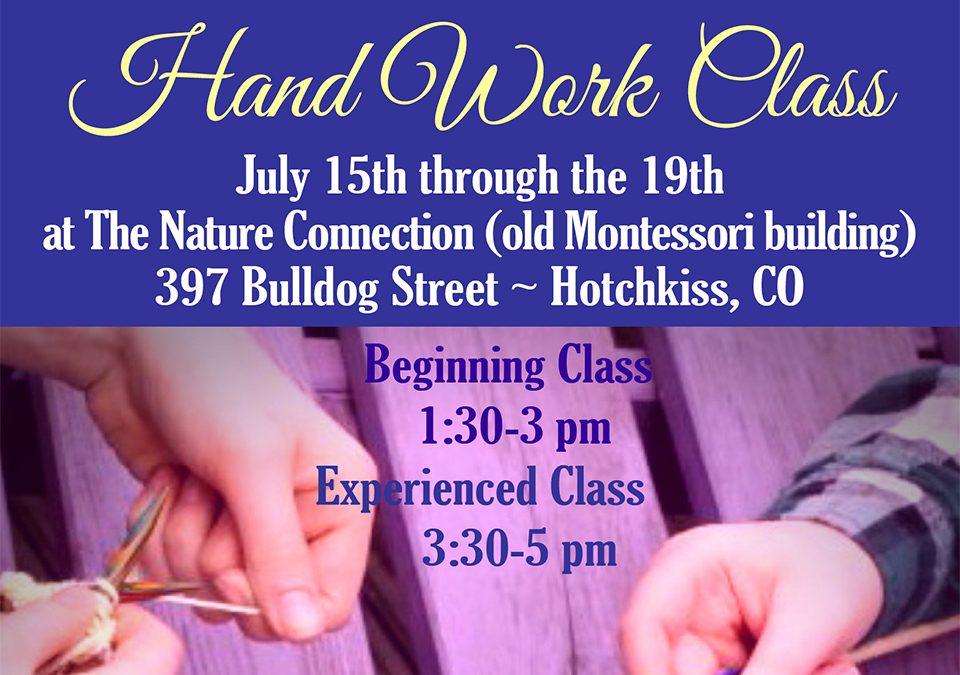 Hand Work Class