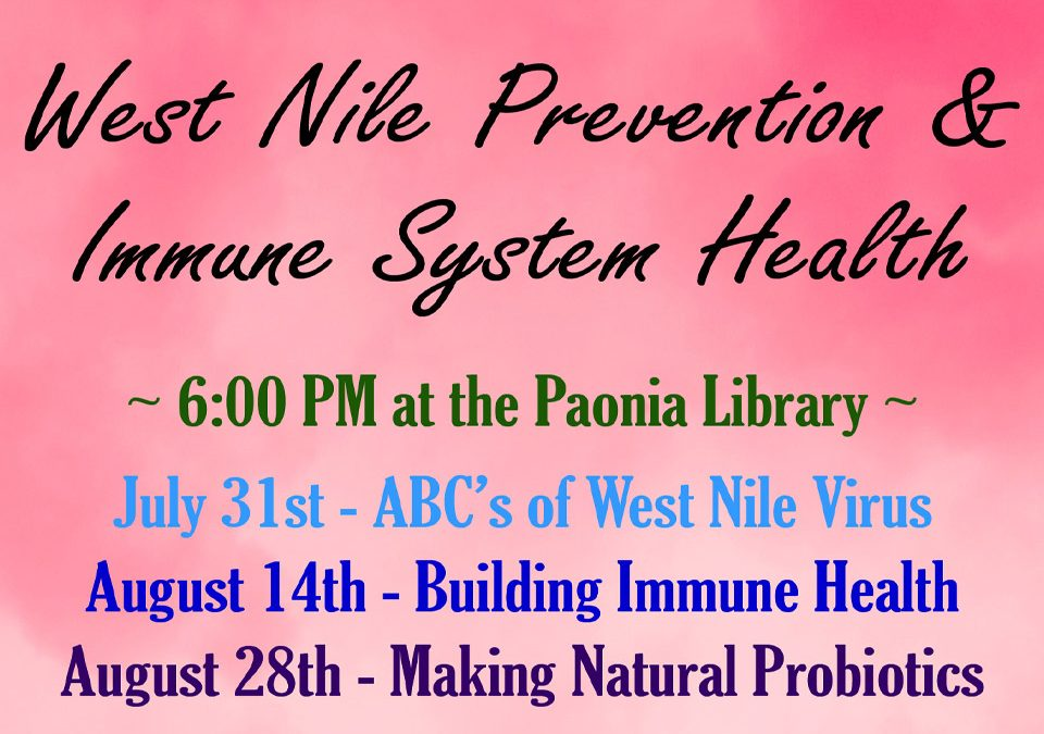 West Nile Prevention and Immune System Health