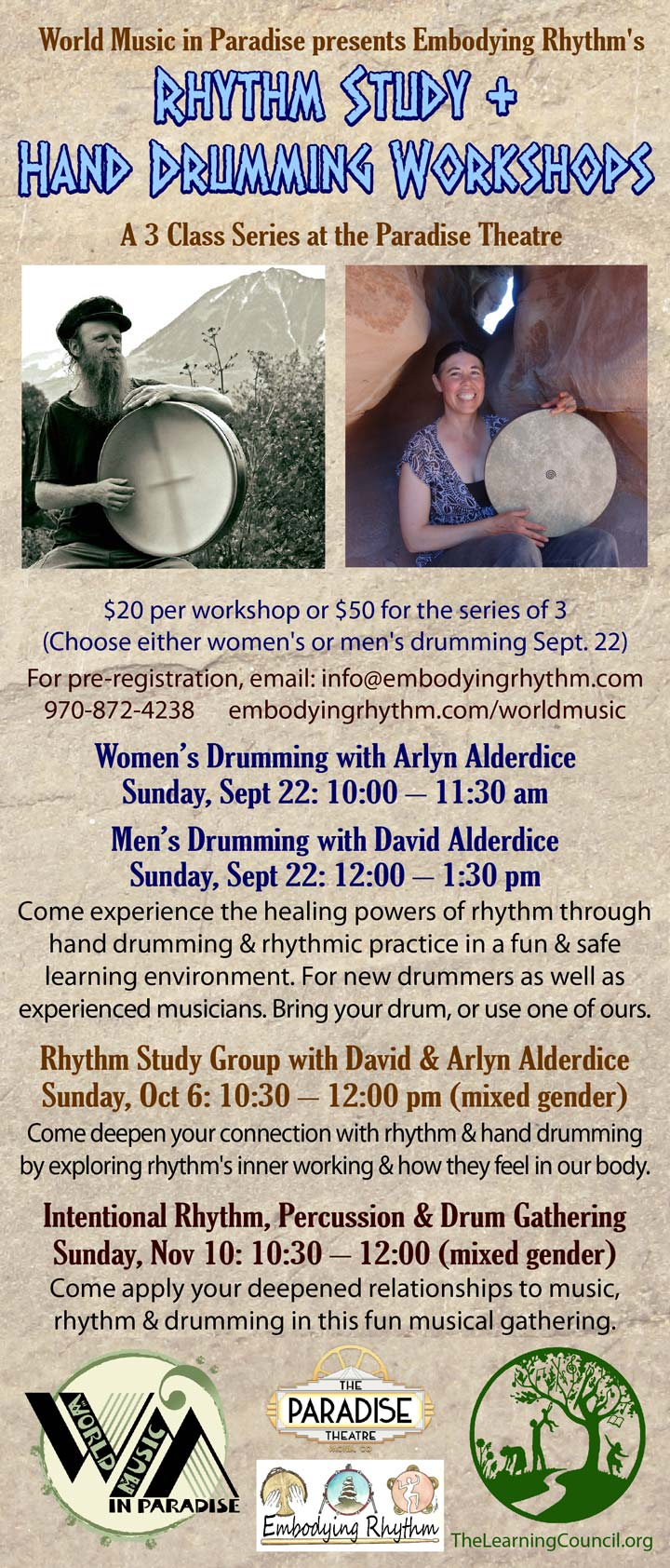 Drumming Workshops poster