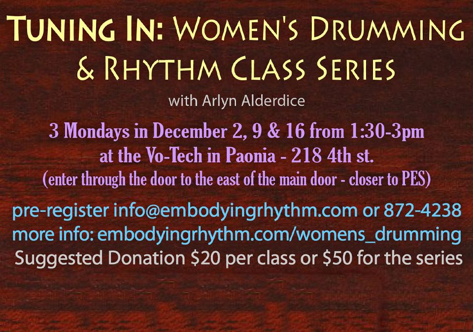 Women's Drumming and Rhythm Class Series