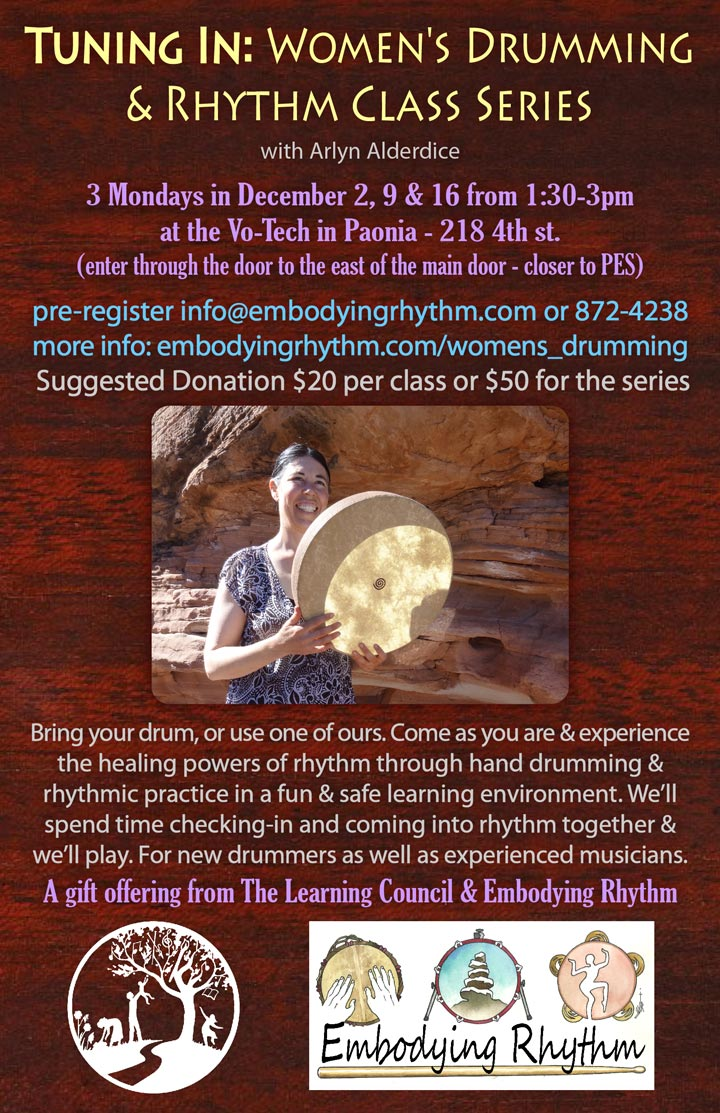 Women's Drumming poster