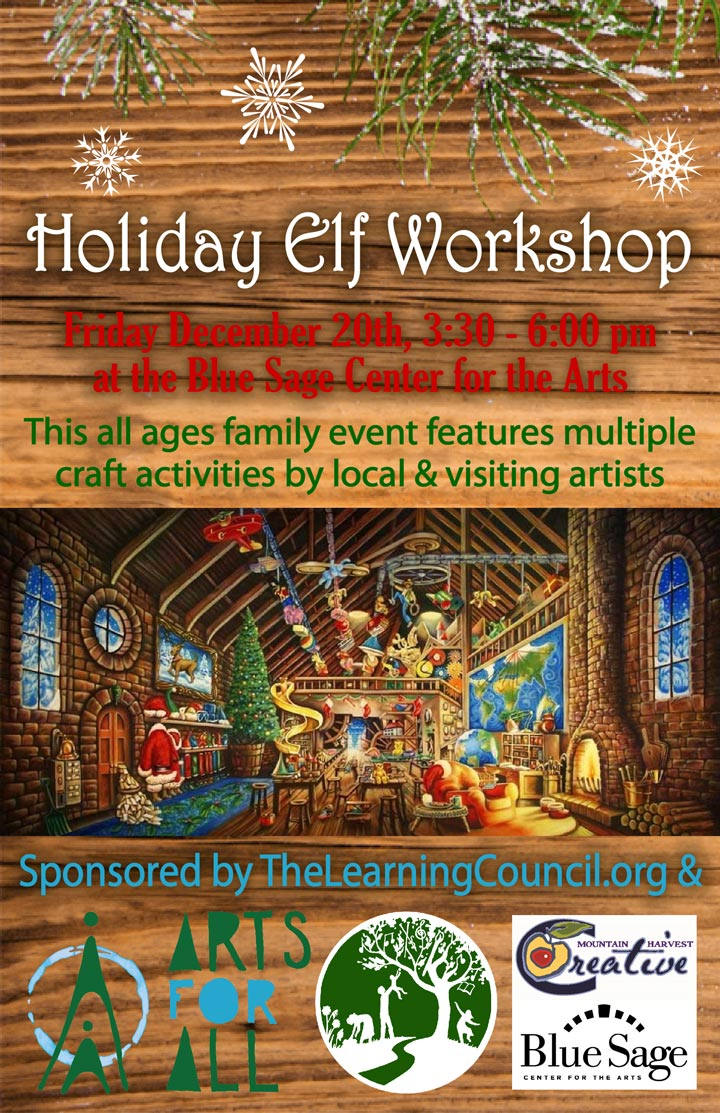 Holiday Elf Workshop poster