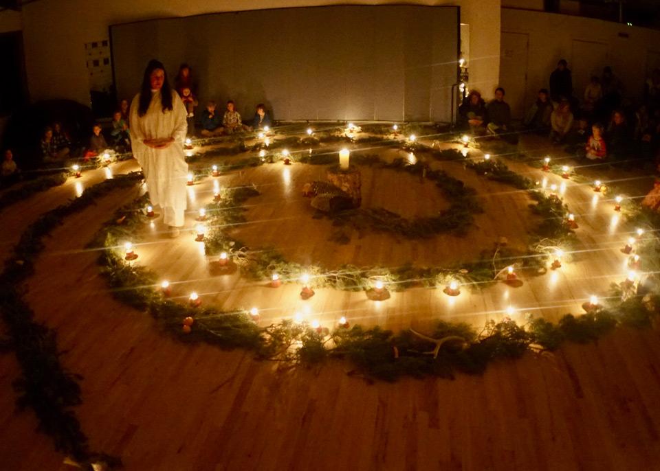 Advent Spiral Garden