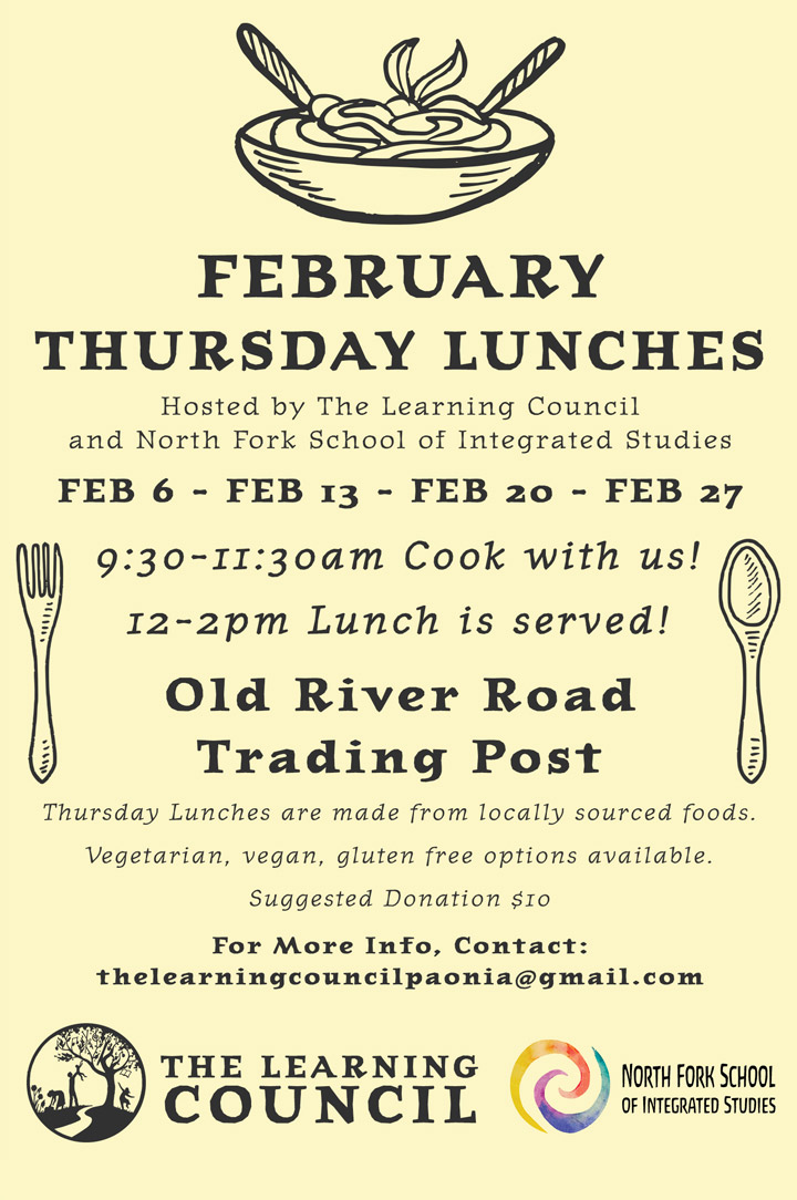 February Cooking Class poster
