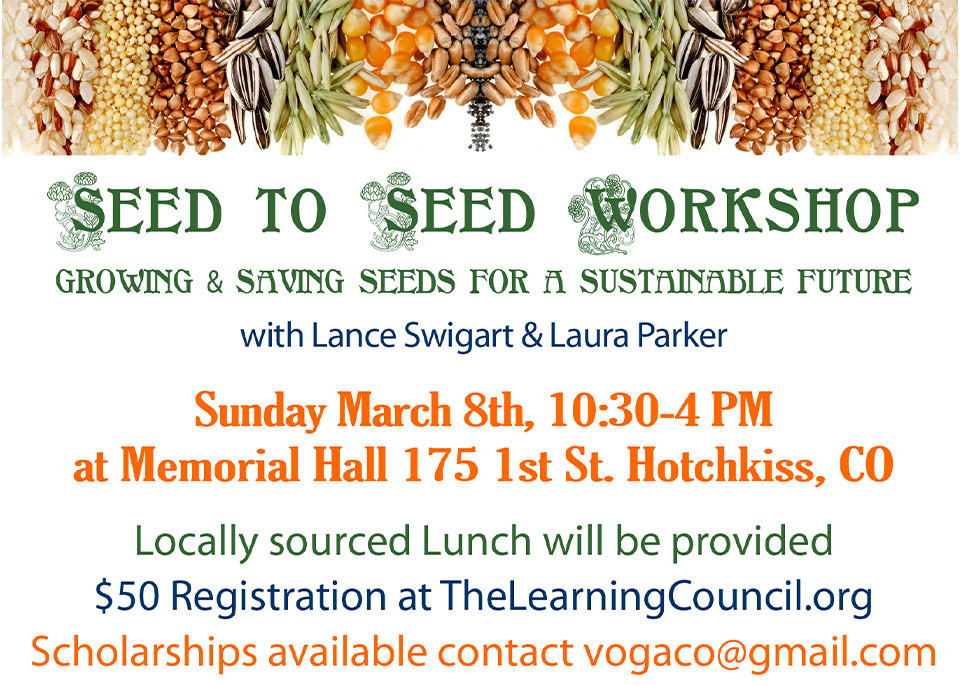 Seed to Seed Workshop and Seed Swap