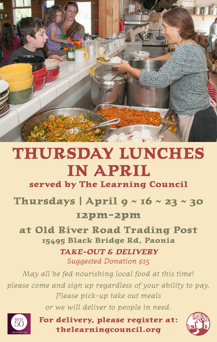 April Lunch poster