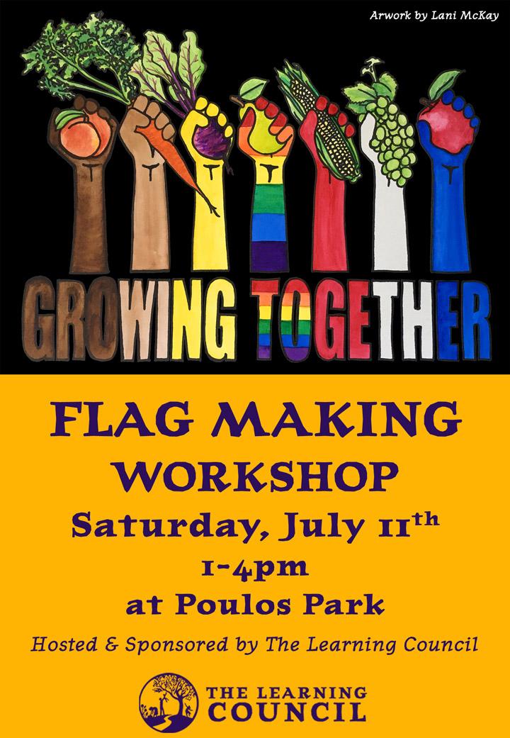 Flag Making Workshop poster