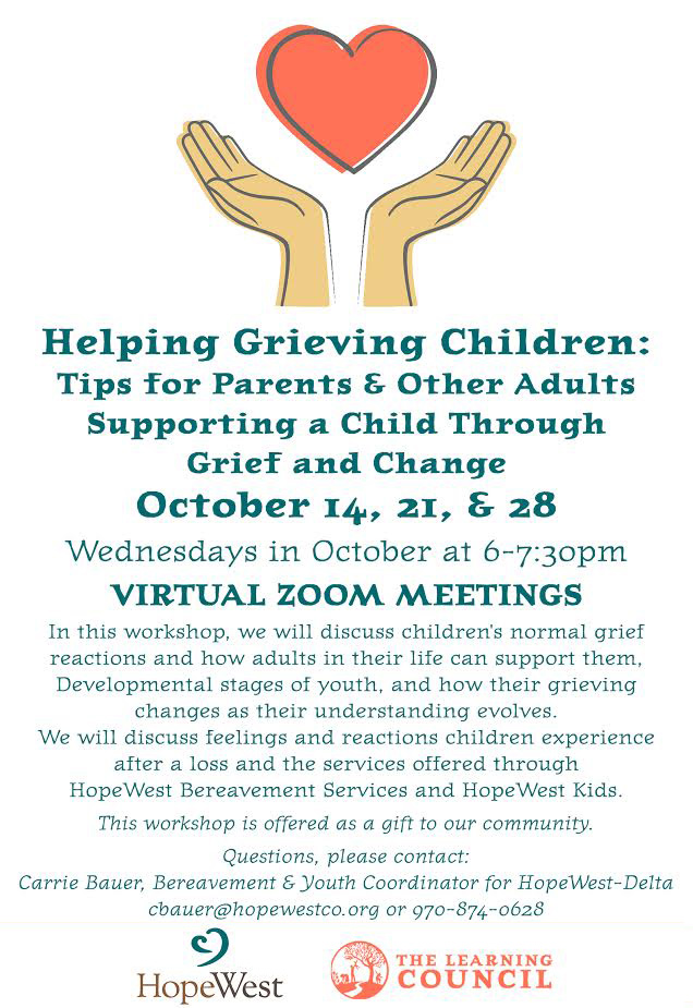Helping Grieving Children poster