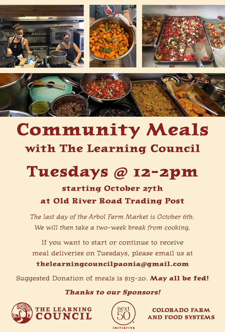Community Lunches poster