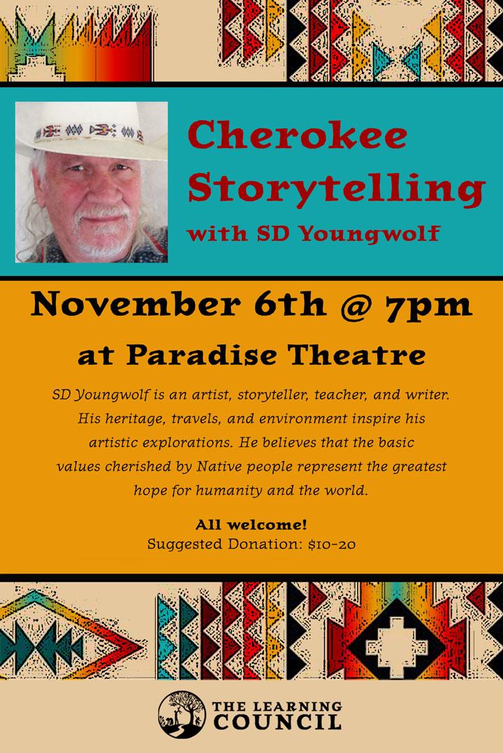 Cherokee Storytelling poster