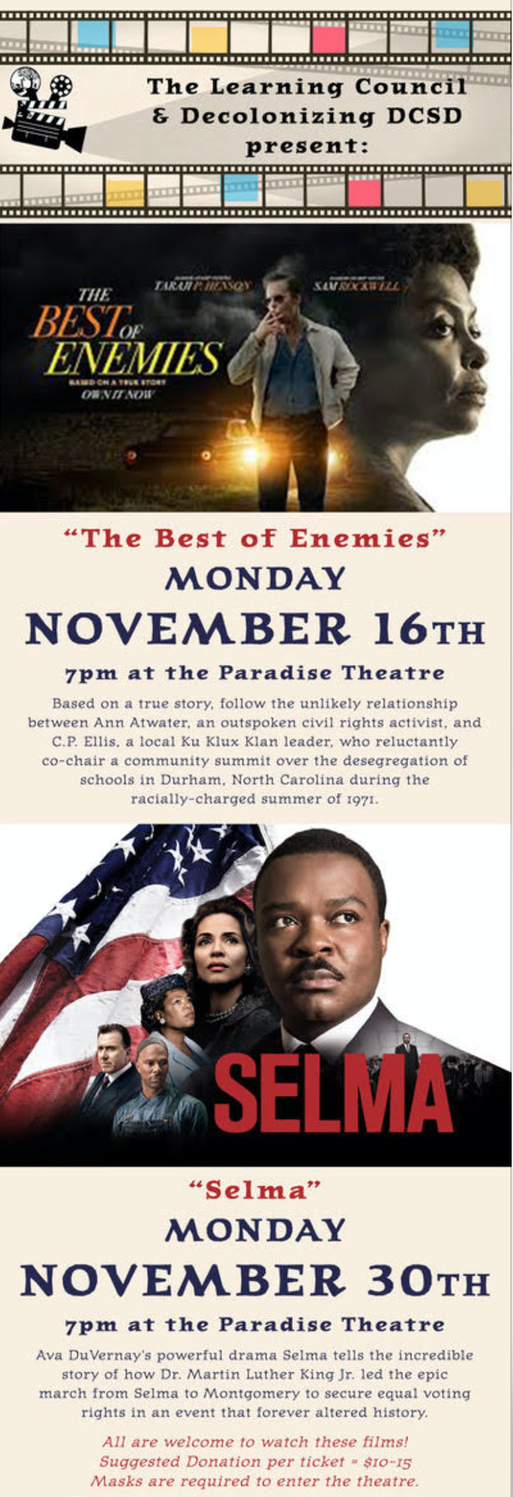 Best of Enemies and Selma poster