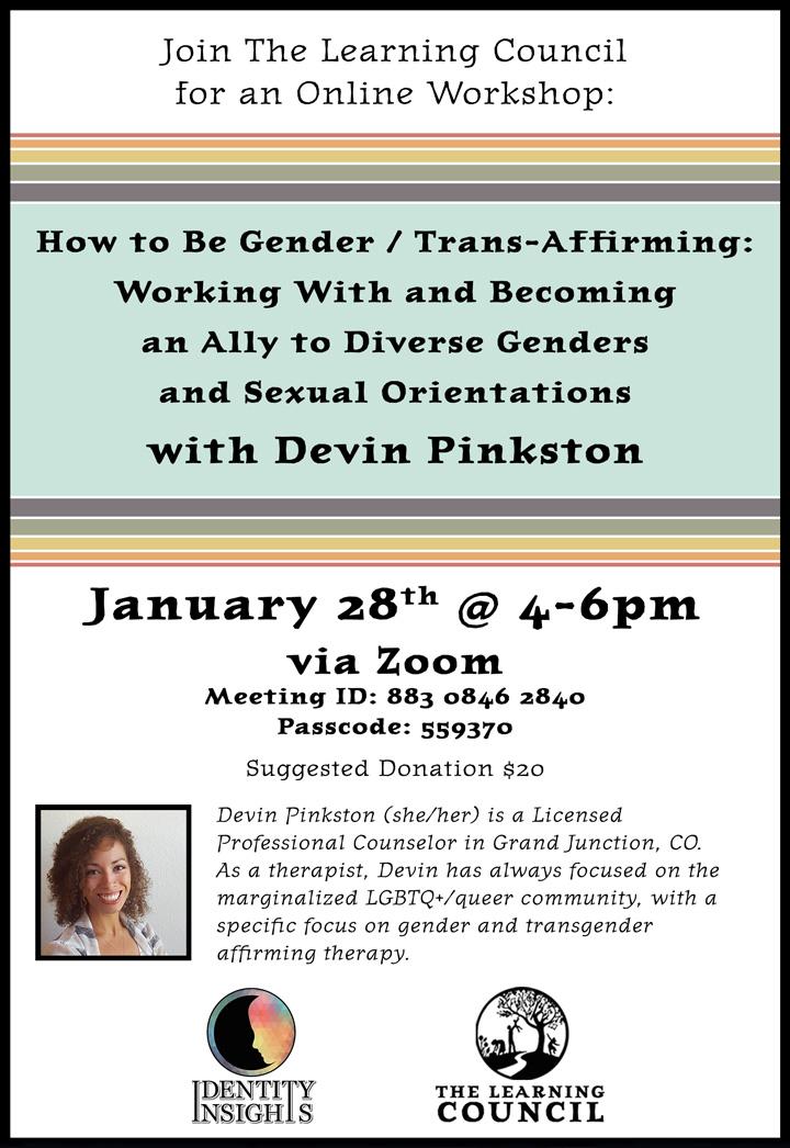 Gender Trans-Affirming poster