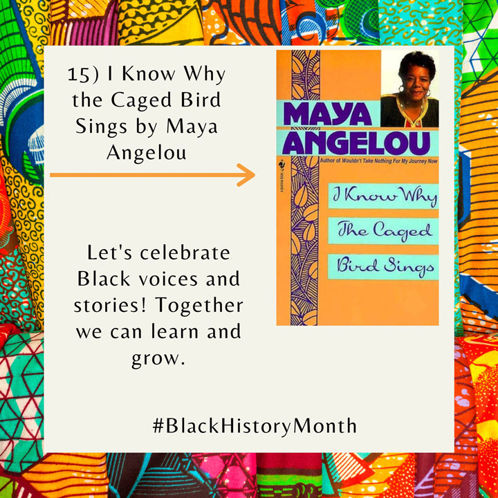 Black History Month books Angelou