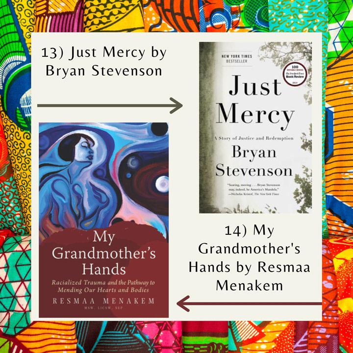 Black History Month books Stevenson and Menakem