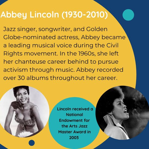 Black Female Artists Abbey Lincoln